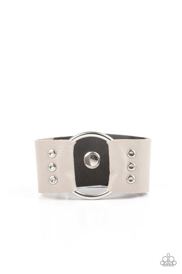 Moto Mayhem - Silver - Paparazzi Bracelet Image