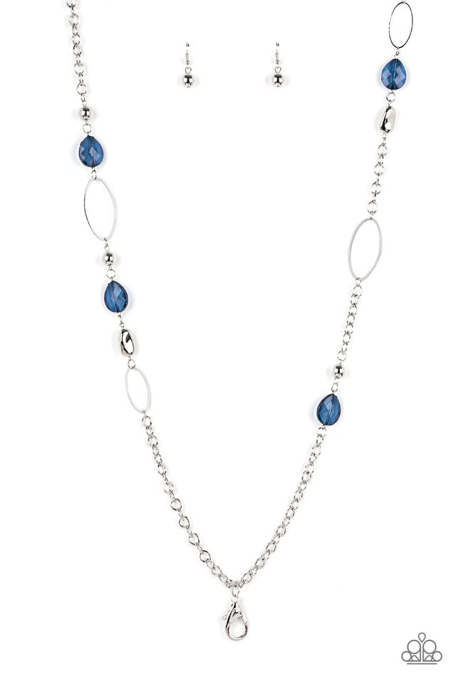 SHEER As Fate​ - Blue - Paparazzi Necklace Image