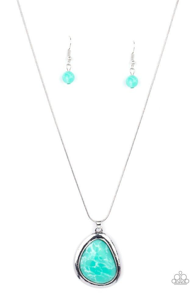 Canyon Oasis - Green - Paparazzi Necklace Image