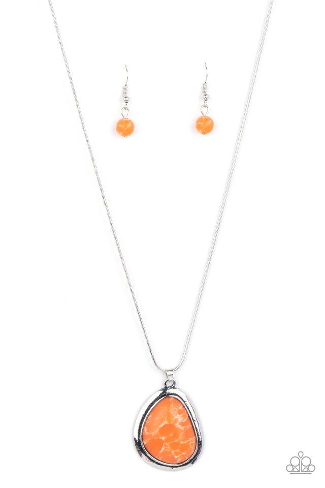 Canyon Oasis - Orange - Paparazzi Necklace Image