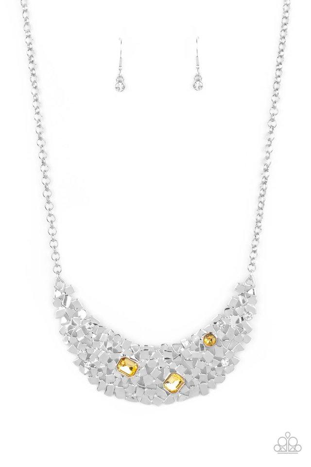 Fabulously Fragmented - Yellow - Paparazzi Necklace Image