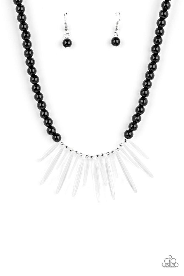 Icy Intimidation - Black - Paparazzi Necklace Image