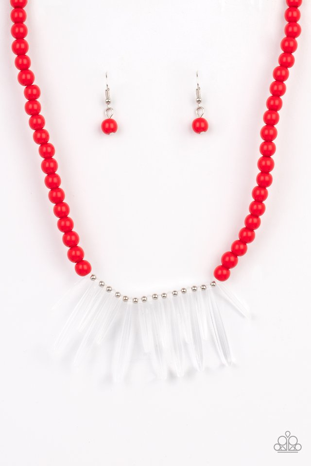 Icy Intimidation - Red - Paparazzi Necklace Image