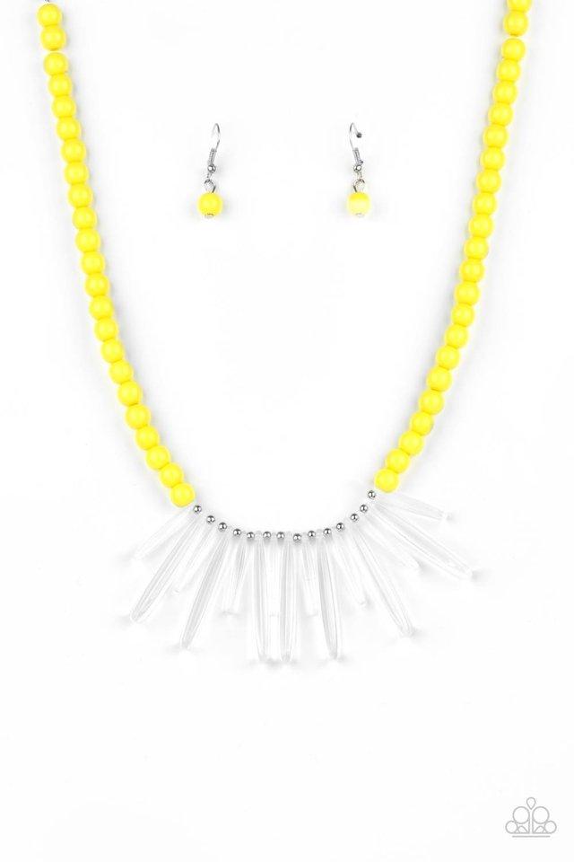 Icy Intimidation - Yellow - Paparazzi Necklace Image