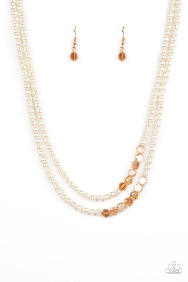 Poshly Petite - Gold - Paparazzi Necklace Image