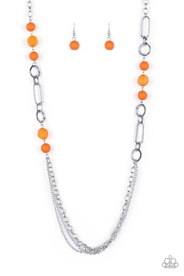 POP-ular Opinion - Orange - Paparazzi Necklace Image
