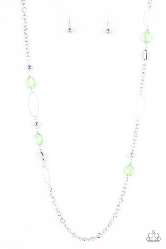 SHEER As Fate - Green - Paparazzi Necklace Image