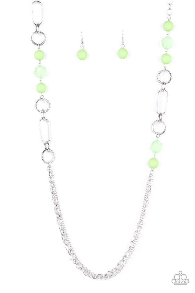 POP-ular Opinion - Green - Paparazzi Necklace Image