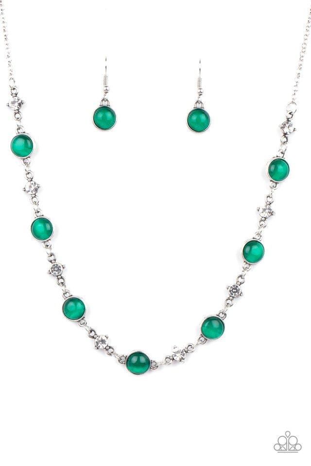 Inner Illumination - Green - Paparazzi Necklace Image