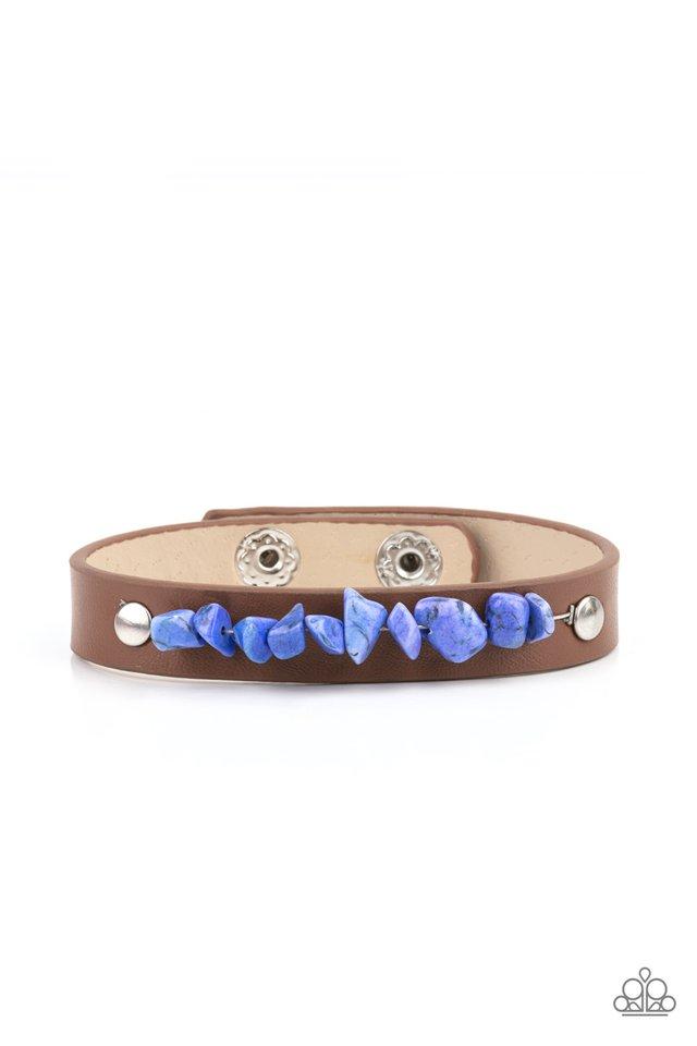 Pebble Paradise - Blue - Paparazzi Bracelet Image