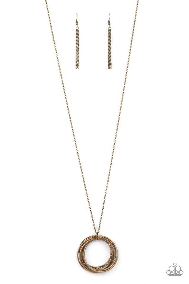 Harmonic Halos - Brass - Paparazzi Necklace Image