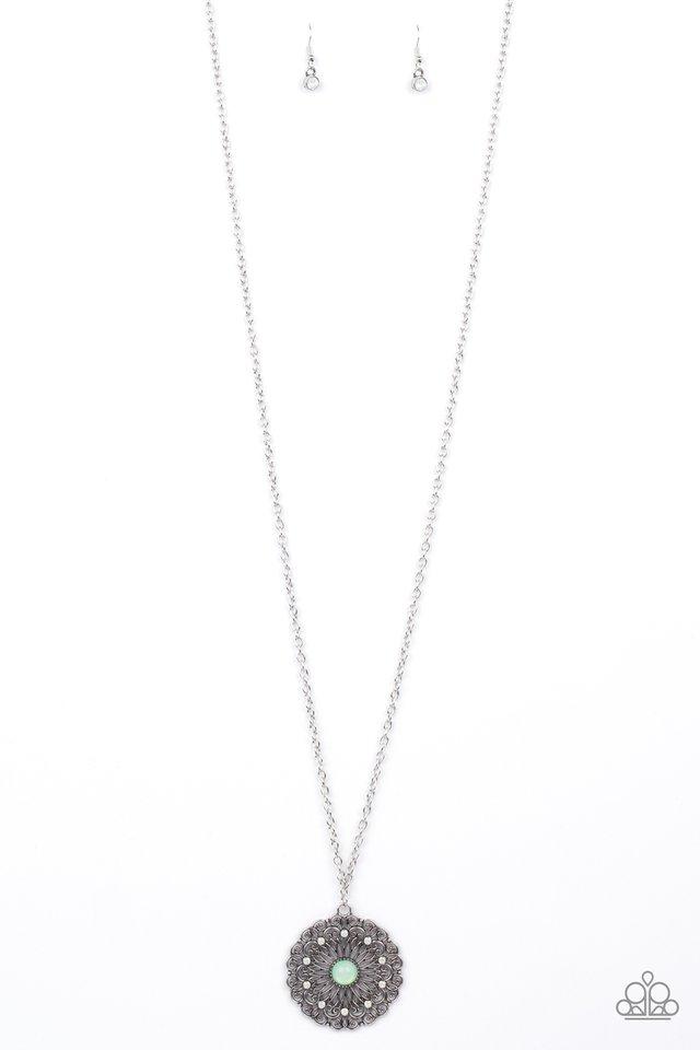 Opal Gardens - Green - Paparazzi Necklace Image
