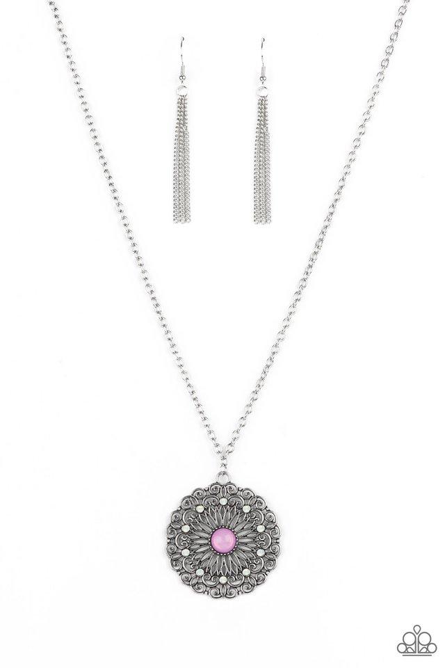 Opal Gardens - Purple - Paparazzi Necklace Image