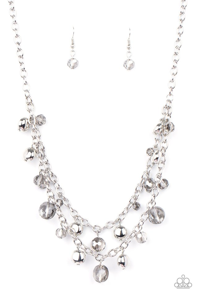 Ethereally Ensconced - Silver - Paparazzi Necklace Image