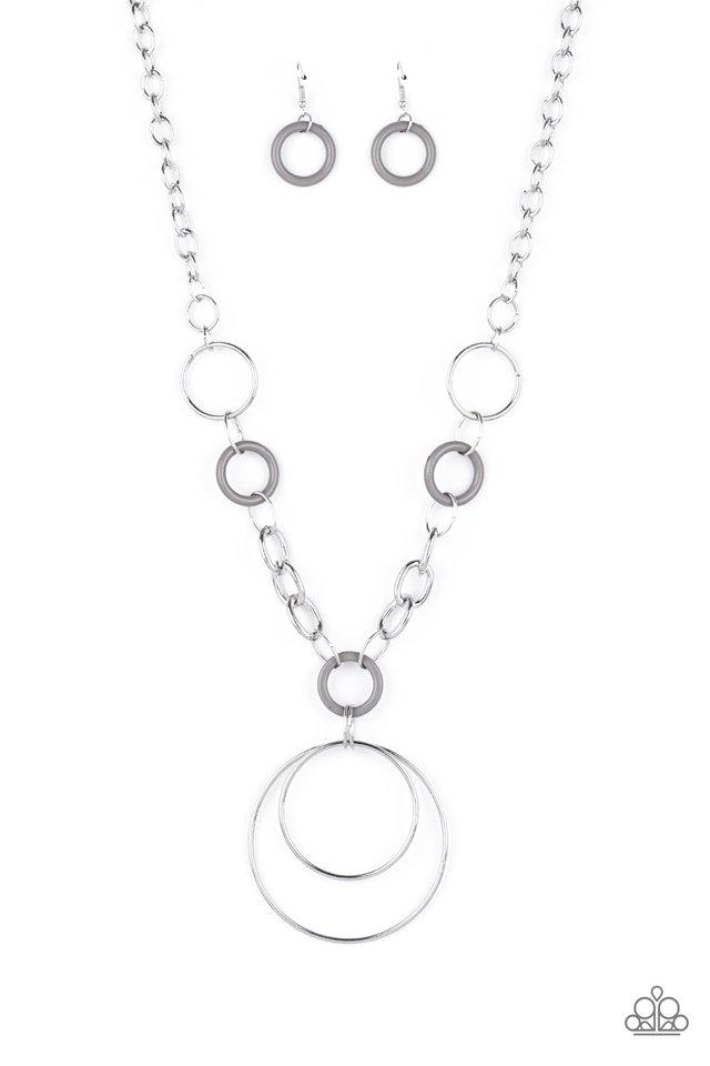 HOOP du Jour - Silver - Paparazzi Necklace Image