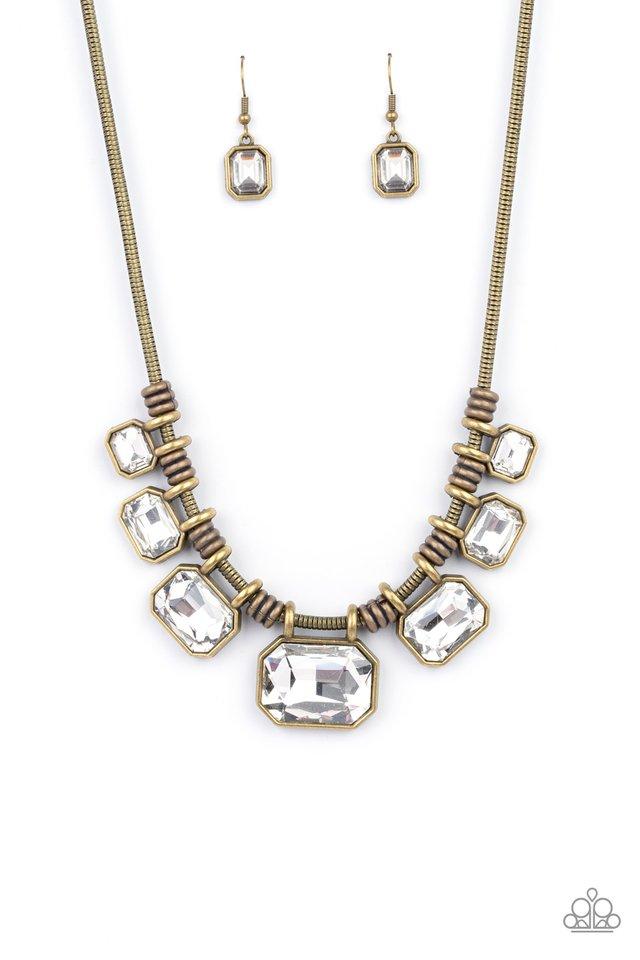 Urban Extravagance - Brass - Paparazzi Necklace Image