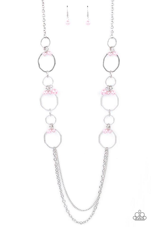 Ante UPSCALE - Pink - Paparazzi Necklace Image