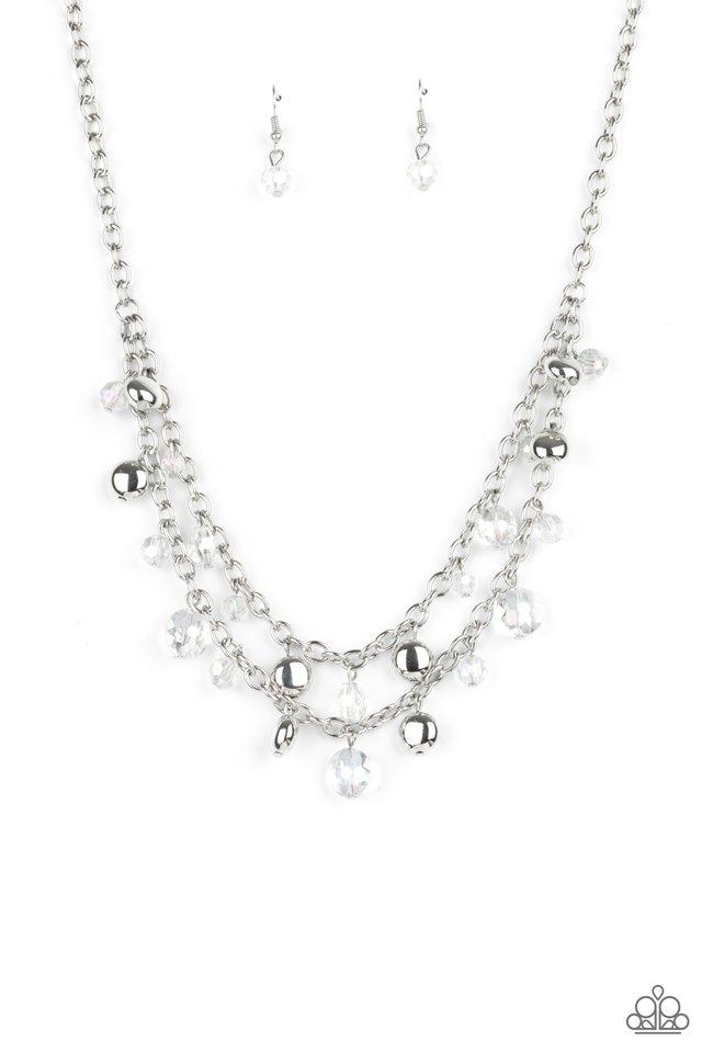 Ethereally Ensconced - White - Paparazzi Necklace Image
