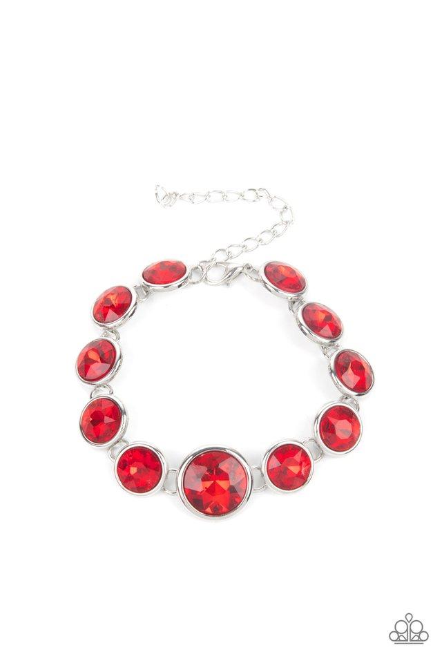 Lustrous Luminosity - Red - Paparazzi Bracelet Image