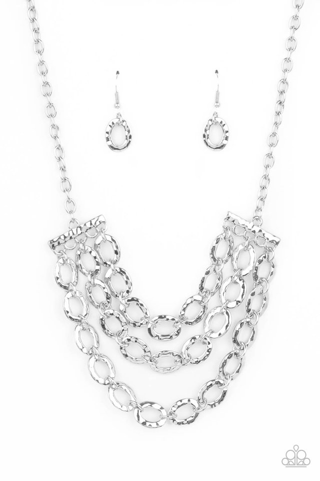 Repeat After Me - Silver - Paparazzi Necklace Image