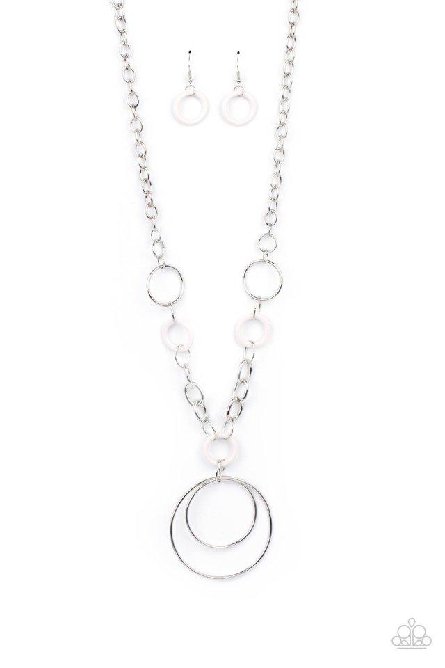 HOOP du Jour - White - Paparazzi Necklace Image