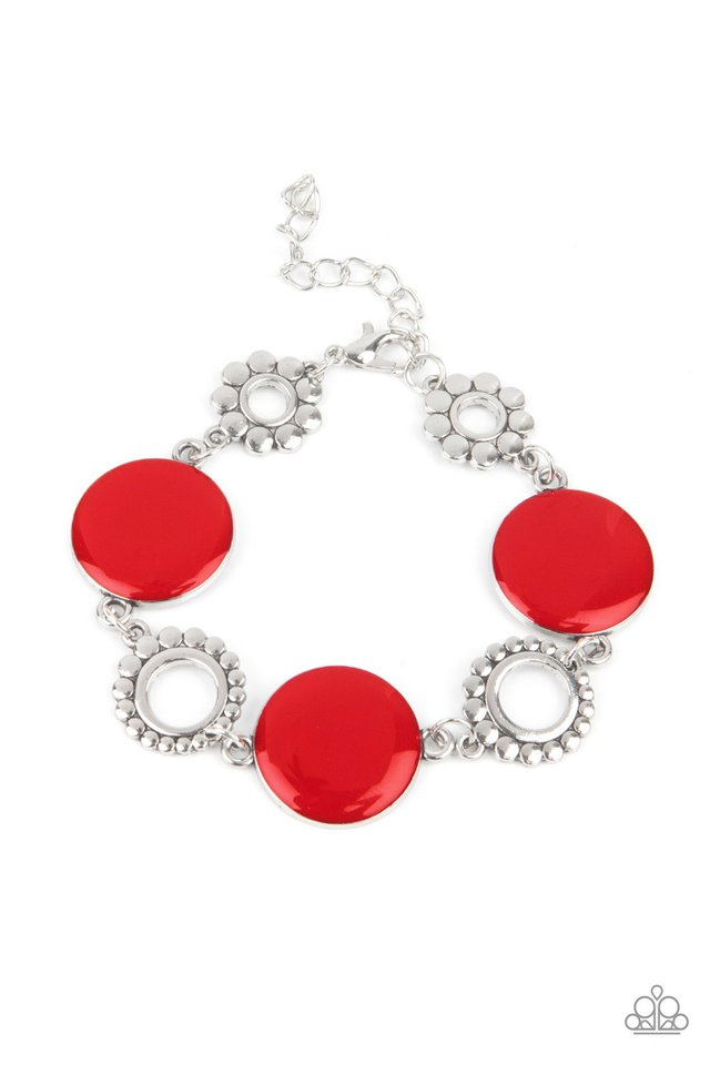 Garden Regalia - Red - Paparazzi Bracelet Image