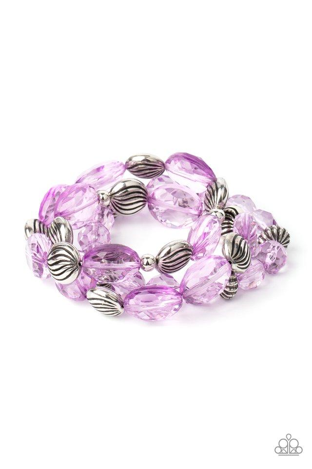 Crystal Charisma - Purple - Paparazzi Bracelet Image