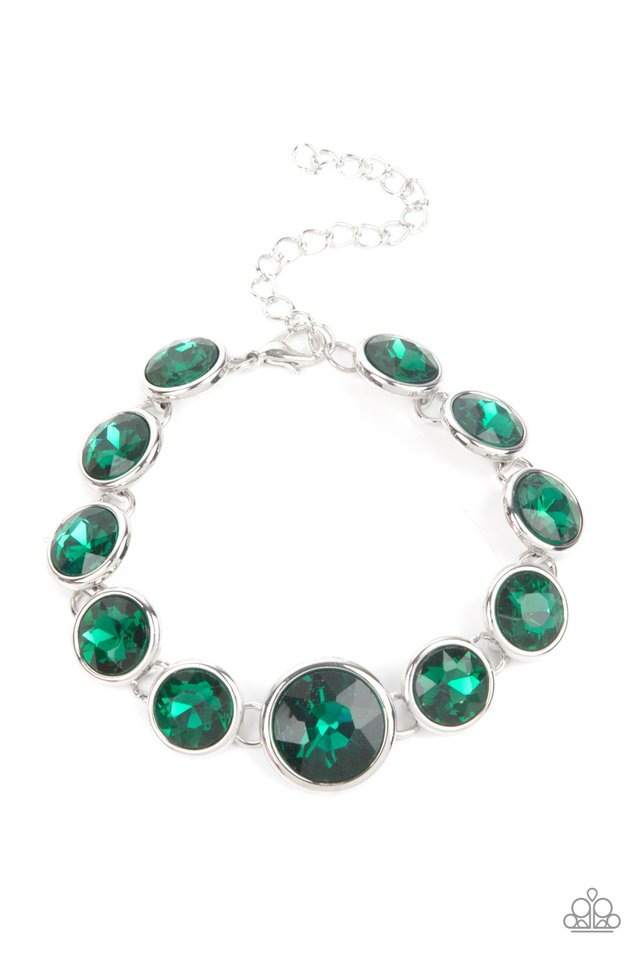 Lustrous Luminosity - Green - Paparazzi Bracelet Image