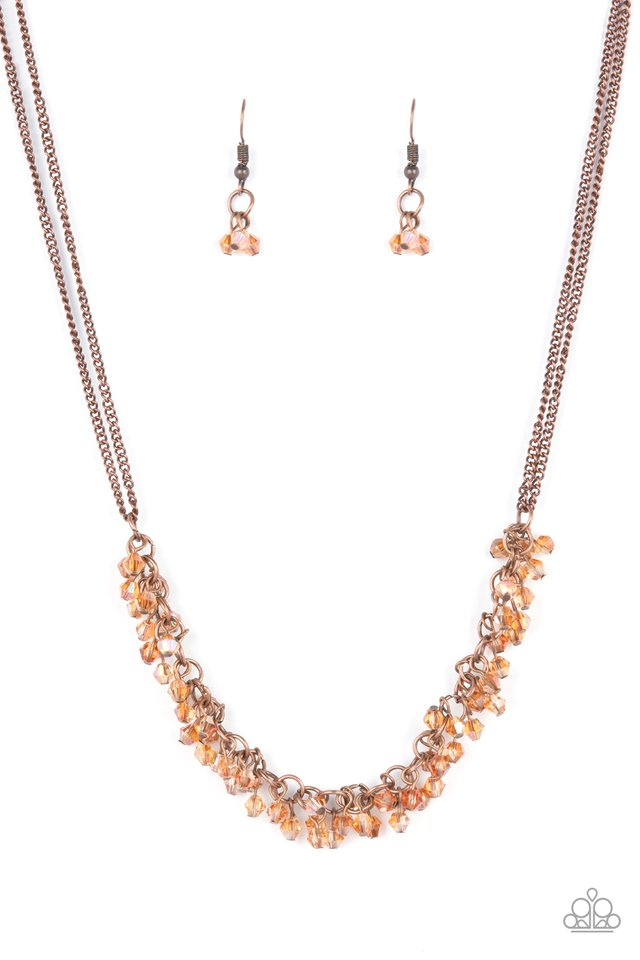 Let There Be TWILIGHT - Copper - Paparazzi Necklace Image