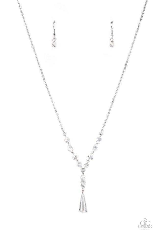 Olympian Oracle - White - Paparazzi Necklace Image