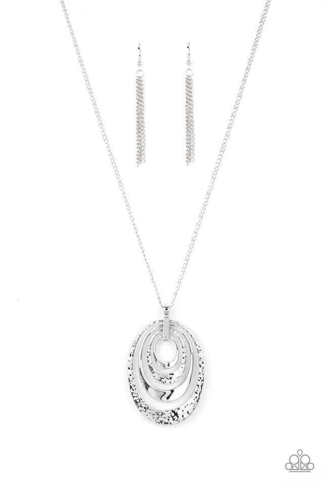 Renegade Ripples - Silver - Paparazzi Necklace Image