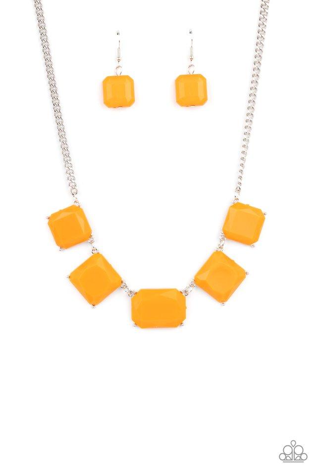 Instant Mood Booster - Orange - Paparazzi Necklace Image