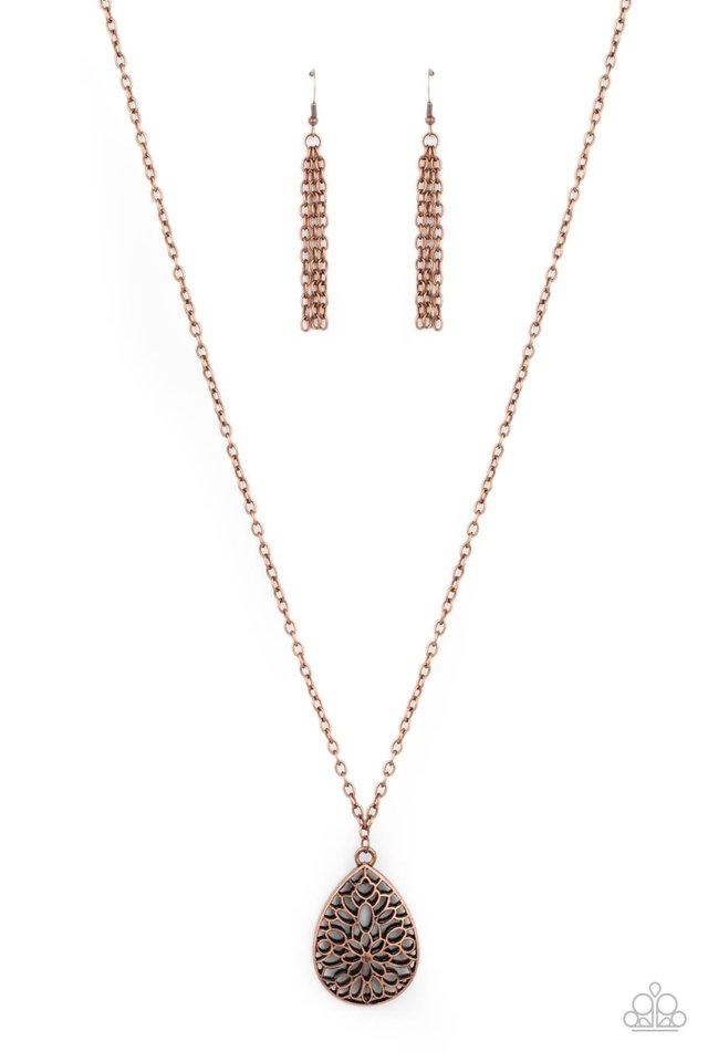 Garden Estate - Copper - Paparazzi Necklace Image
