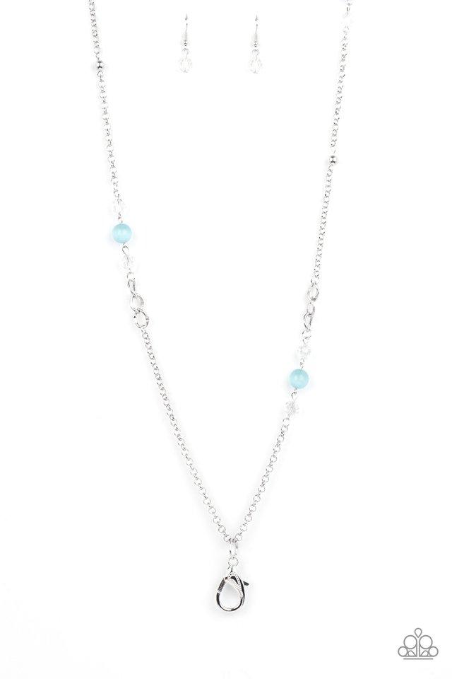 Teasingly Trendy - Blue - Paparazzi Necklace Image