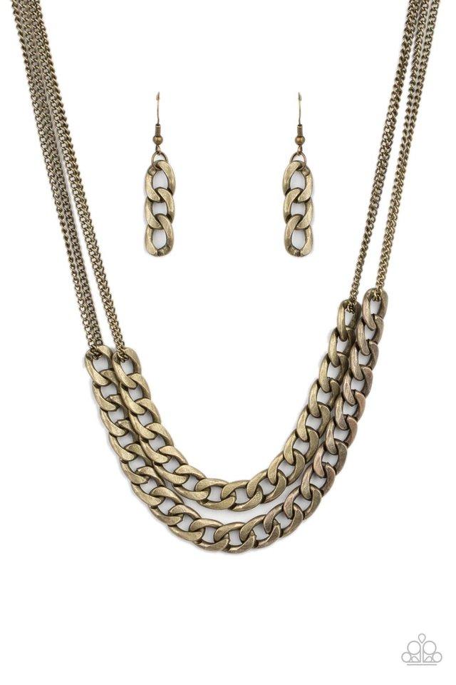 Urban Culture - Brass - Paparazzi Necklace Image