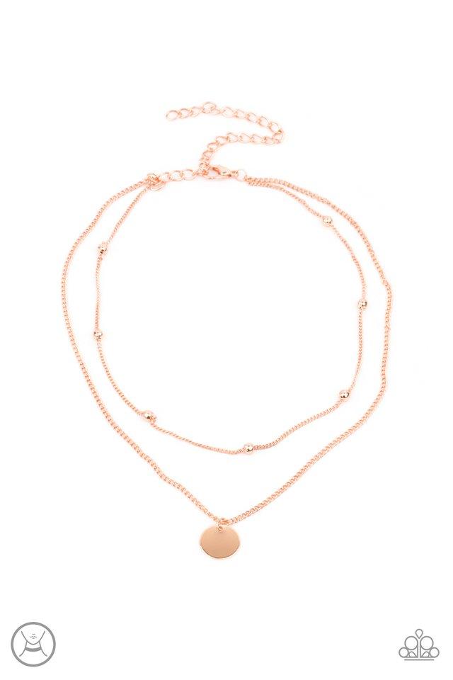 Modestly Minimalist - Copper - Paparazzi Necklace Image