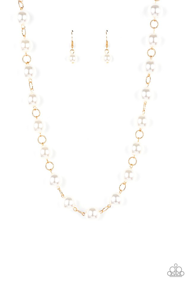 Ensconced in Elegance - Gold - Paparazzi Necklace Image