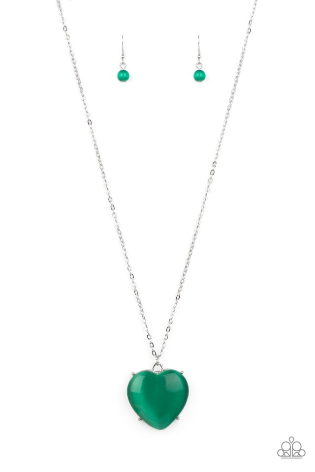 Warmhearted Glow - Green - Paparazzi Necklace Image