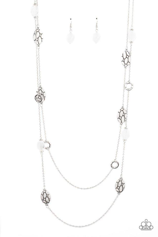 Cobble Creeks - White - Paparazzi Necklace Image