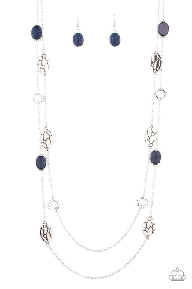 Cobble Creeks - Blue - Paparazzi Necklace Image
