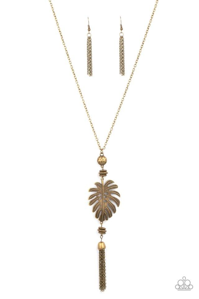 Palm Promenade - Brass - Paparazzi Necklace Image