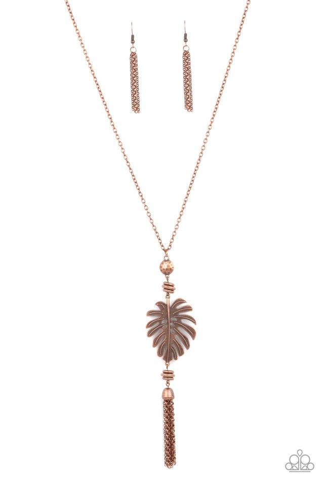 Palm Promenade - Copper - Paparazzi Necklace Image