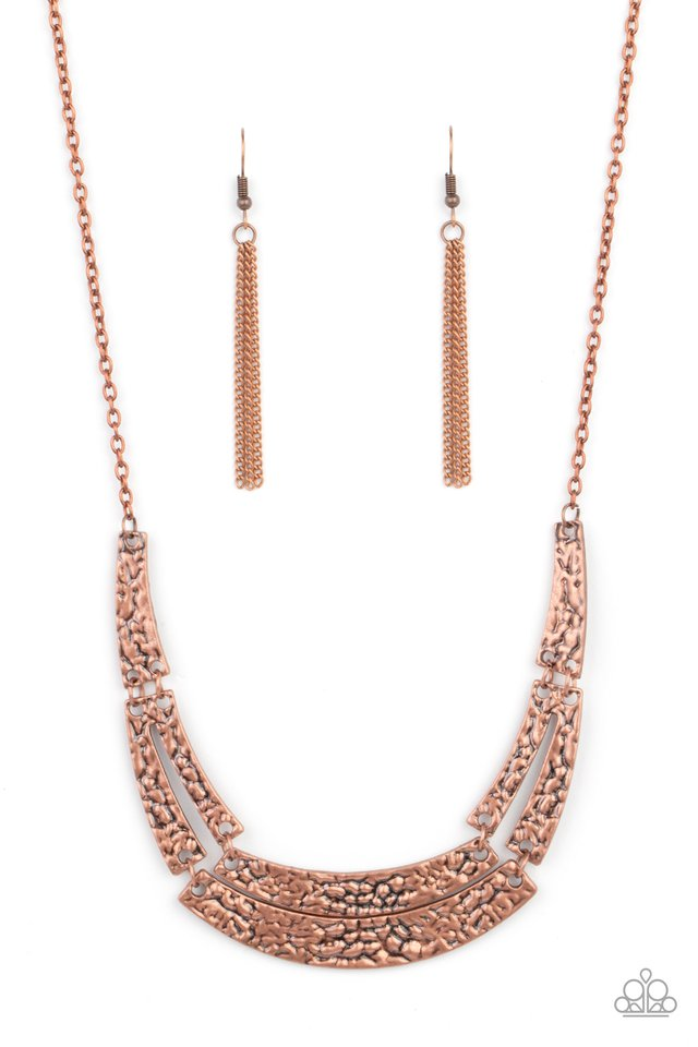 Stick To The ARTIFACTS - Copper - Paparazzi Necklace Image