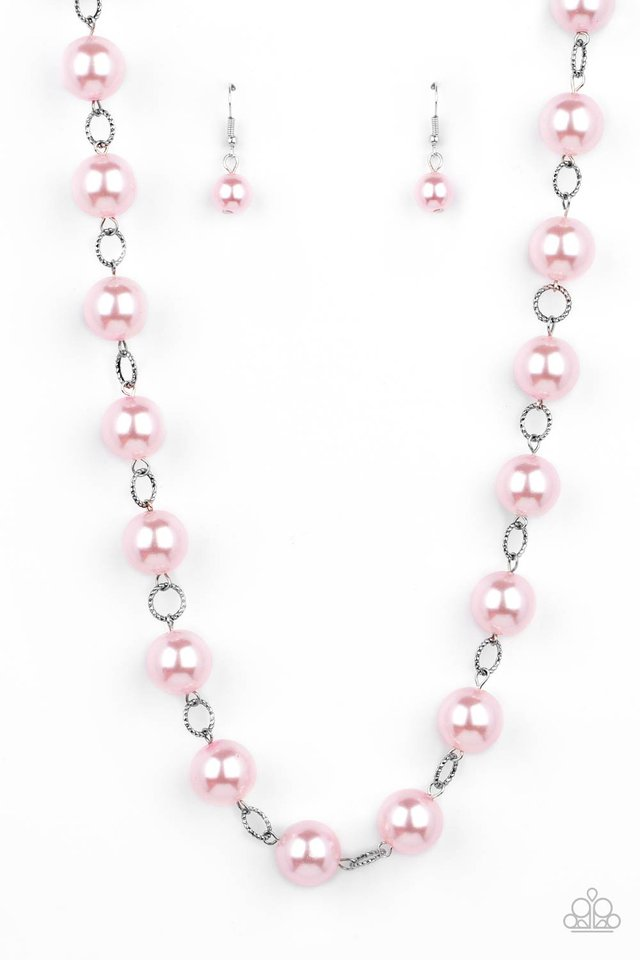 Ensconced in Elegance - Pink - Paparazzi Necklace Image