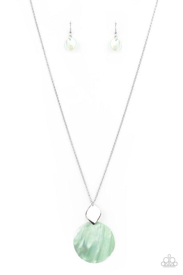 Tidal Tease - Green - Paparazzi Necklace Image