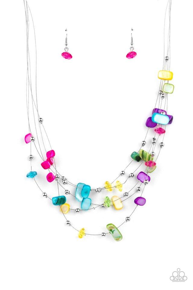 Prismatic Pebbles - Multi - Paparazzi Necklace Image