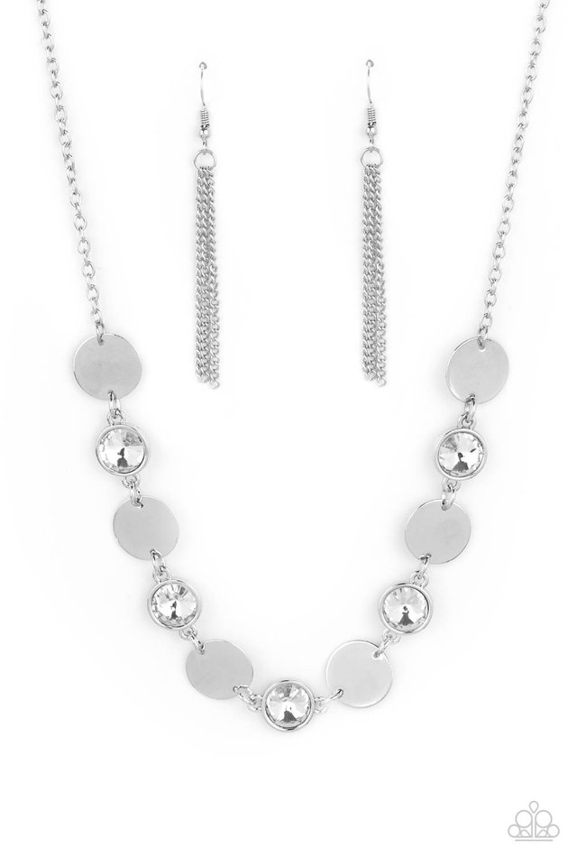 Refined Reflections - White - Paparazzi Necklace Image