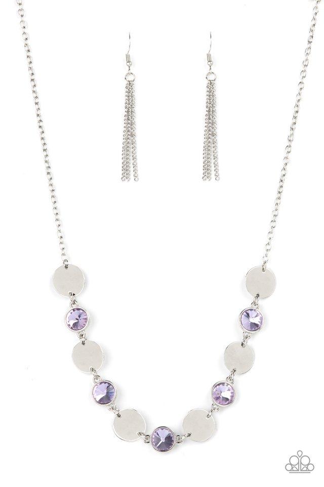 Refined Reflections - Purple - Paparazzi Necklace Image