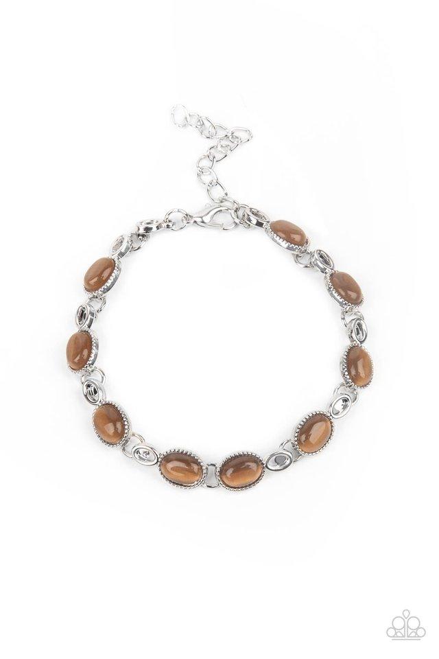 Blissfully Beaming - Brown - Paparazzi Bracelet Image
