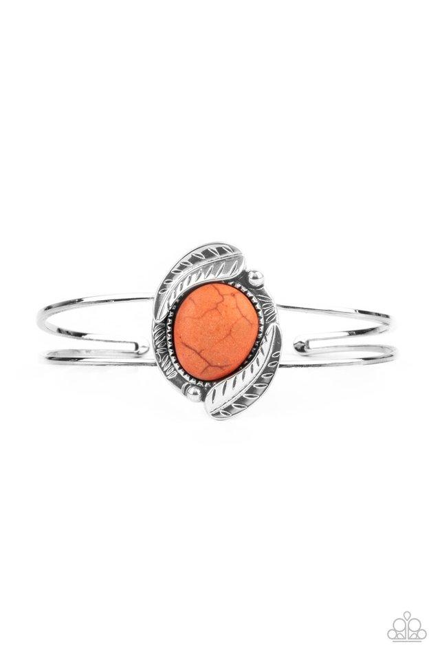 Living Off The BANDLANDS - Orange - Paparazzi Bracelet Image